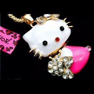 "Betsey Johnson ""Hello Kitty"" necklace"